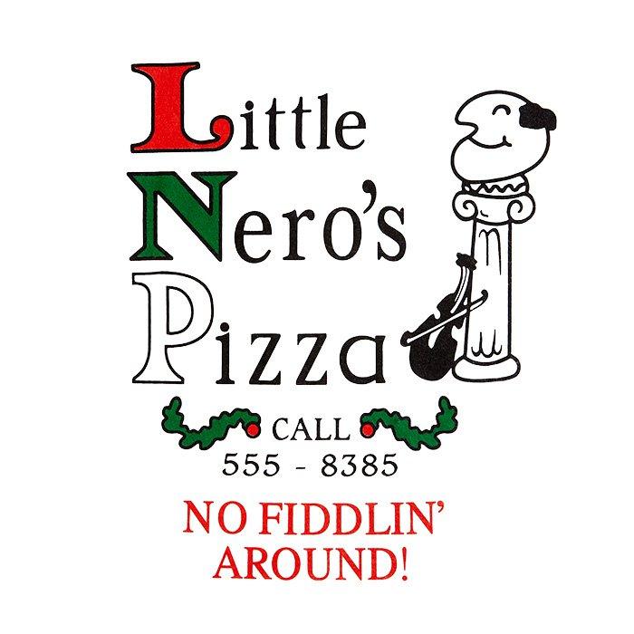 T-shirt # 1 de la pizza de Little Nero
