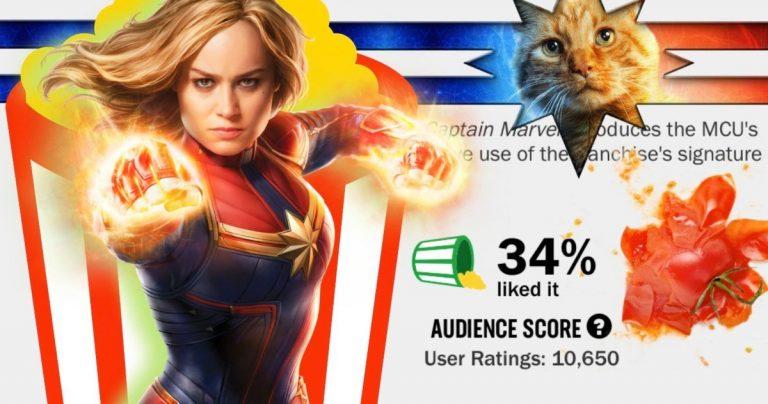 <pre>Tomates pourries blâme Captain Marvel Review Controverse sur un glitch