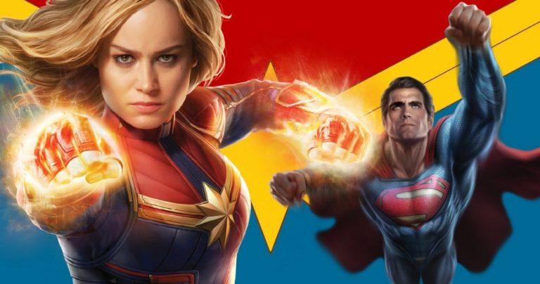 <pre>Le capitaine Marvel Beat Superman? Brie Larson pense qu'elle sait