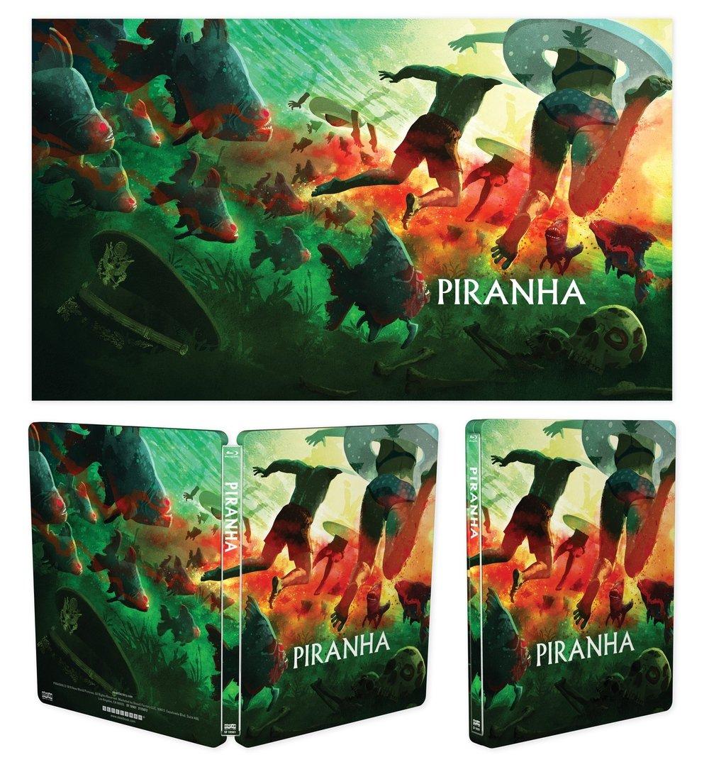 Piranha 1978 Steelbook Blu-ray Art