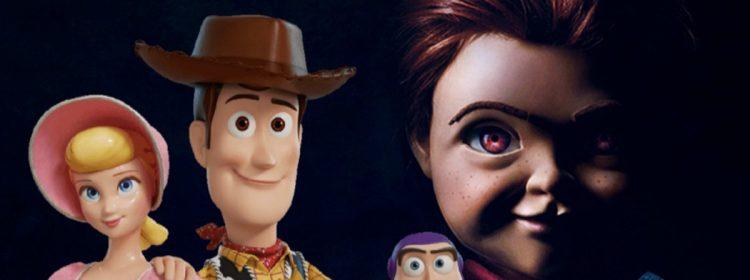 Woody Vs. Chucky pendant que l'enfant joue à Toy Story 4 au Box Office