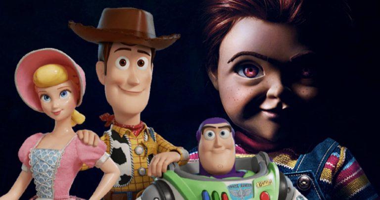 <pre>Woody Vs. Chucky pendant que l'enfant joue à Toy Story 4 au Box Office