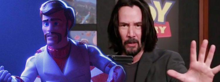 Regardez Keanu Reeves devenir Duke Caboom dans la vidéo de la cabine d'enregistrement de Toy Story 4