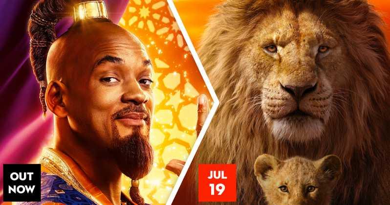 Aladdin et le roi lion à l'affiche juillet 2019