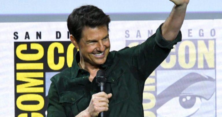 Regardez Tom Cruise Cric Comic-Con avec Surprise Tog Gun 2 images pour les fans du Hall H