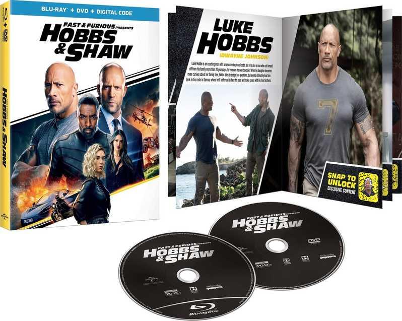 Hobbs et Shaw Blu-ray art