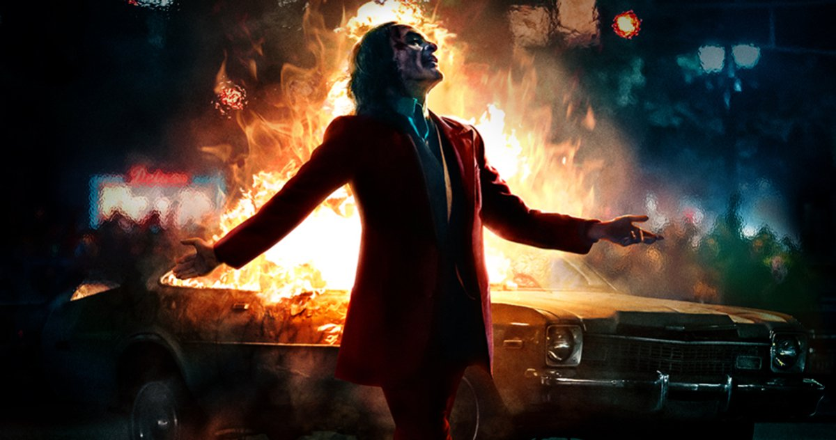 Joker IMAX Poster Le prince clown prêt à mettre le feu au monde