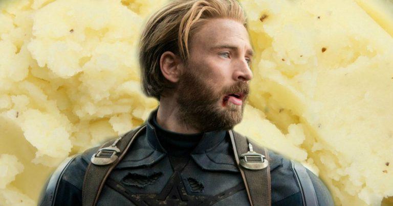 Infinity War coupe une scène de Capitaine Américaine vraiment grossière impliquant de la purée de pommes de terre