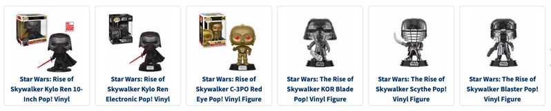 Nouvelle montée de Skywalker Funko Pops