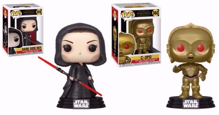 Dark Side Rey et C-3PO aux yeux rouges Obtenez l'essor de Skywalker Funko! Pop figures