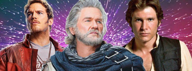 Star Wars ou Star-Lord? Kurt Russell ne pouvait pas les garder droits sur l'ensemble des gardiens
