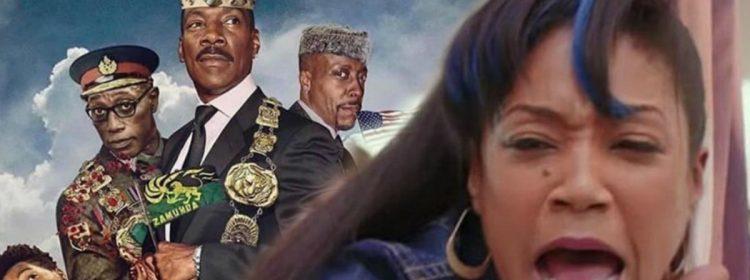 L'affiche de Fake Coming 2 America provoque un énorme débat sur Tiffany Haddish sur Twitter