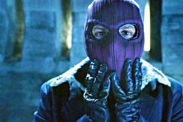 Tirer sur le masque emblématique de Zemo a le faucon et l'étoile du soldat d'hiver très excités