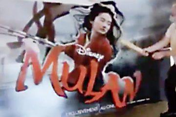 Mulan Promotional Standee détruit par un opérateur de théâtre pour Disney + annonce de première