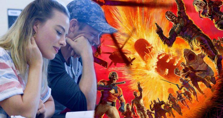 La première table de la Suicide Squad a lu les photos partagées par James Gunn