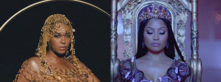 Pas de gros problème, juste Beyoncé envoie à Nicki Minaj la note de maman parfaite après la naissance de son premier fils