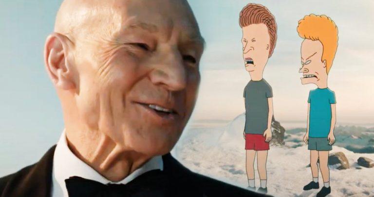 Patrick Stewart accueille Beavis & Butt-Head, Spongebob et plus dans Paramount + Super Bowl Commercial