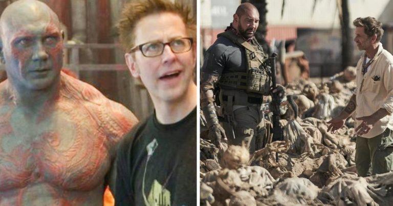Dave Bautista appelle James Gunn un maniaque du contrôle, déclare que Zack Snyder est beaucoup plus flexible