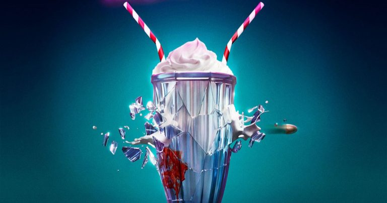 Des images et une affiche du teaser de Milkshake de poudre à canon amènent l'assassin de Karen Gillan à Netflix