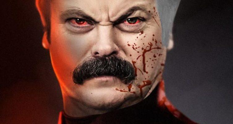 Nick Offerman est un Omni-Man trempé de sang dans le dernier fan art invincible de BossLogic